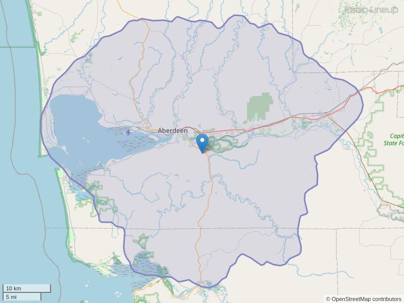 KXXK-FM Coverage Map