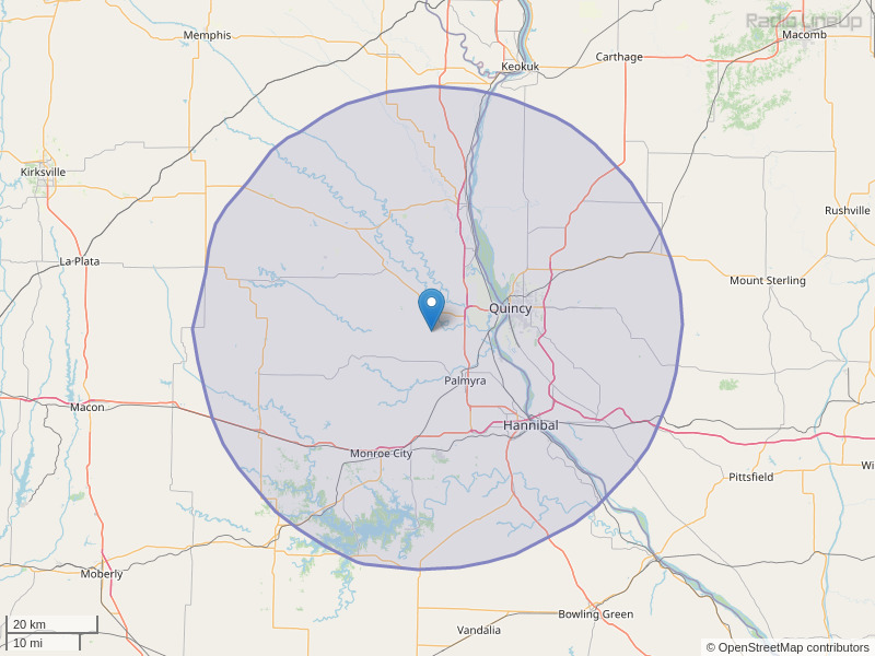 KRRY-FM Coverage Map