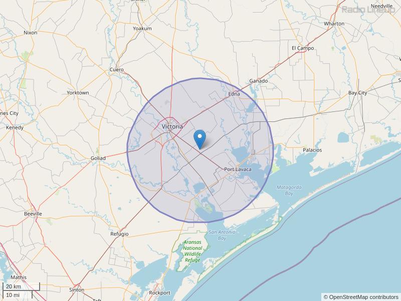 KLUB-FM Coverage Map