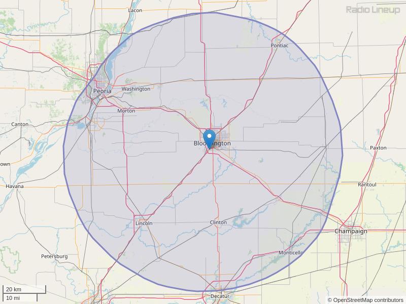 WBNQ-FM Coverage Map