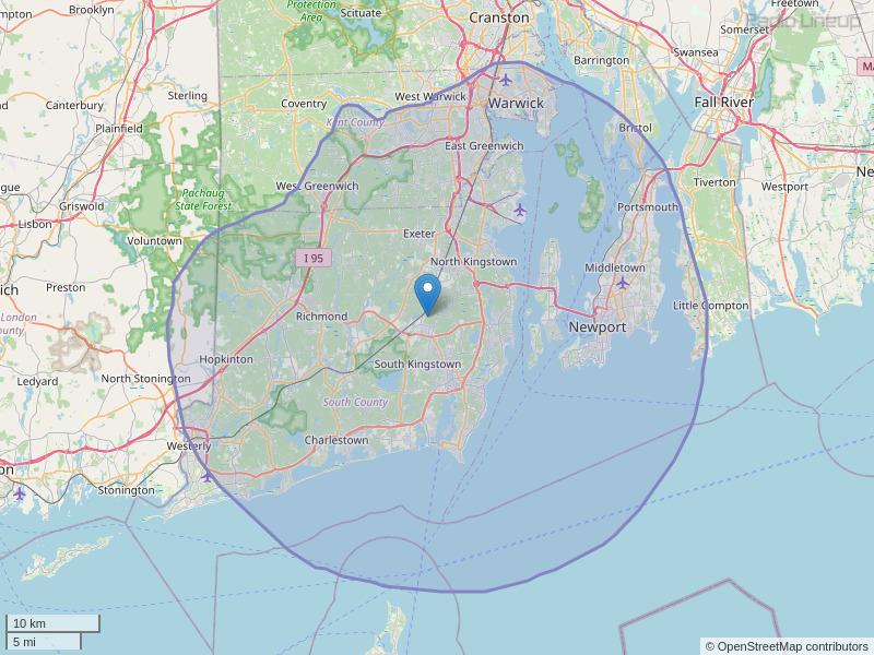 WRIU-FM Coverage Map