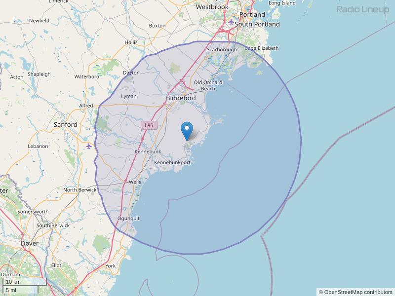 WBQQ-FM Coverage Map