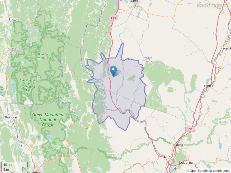 WVTC-FM Coverage Map
