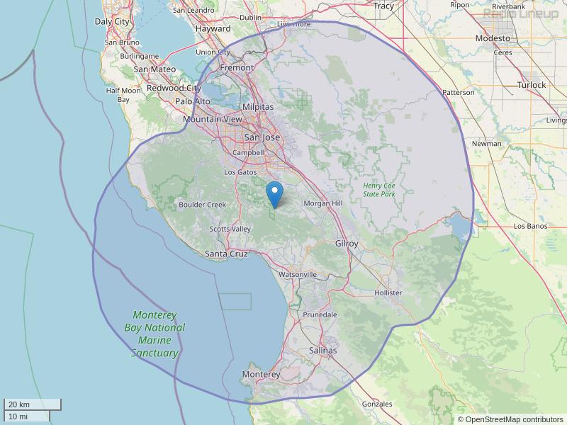 KSQL-FM Coverage Map