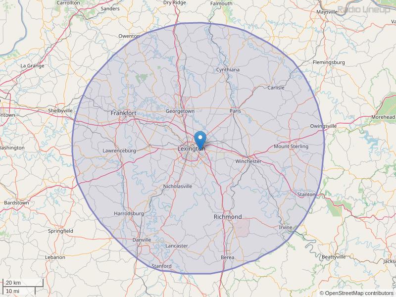 WBUL-FM Coverage Map