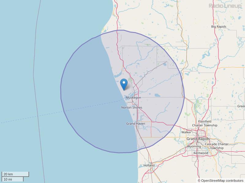 WMUS-FM Coverage Map