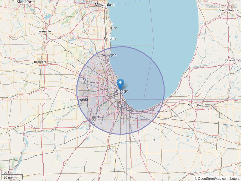 WCFS-FM Coverage Map