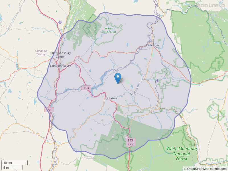 WMTK-FM Coverage Map