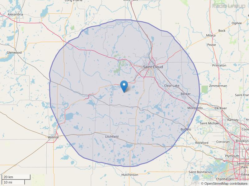 KMXK-FM Coverage Map