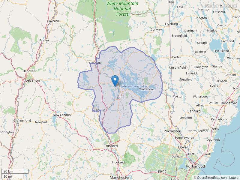 WWLK-FM Coverage Map