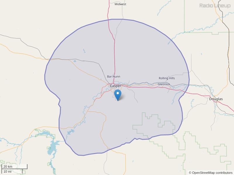 KRNK-FM Coverage Map