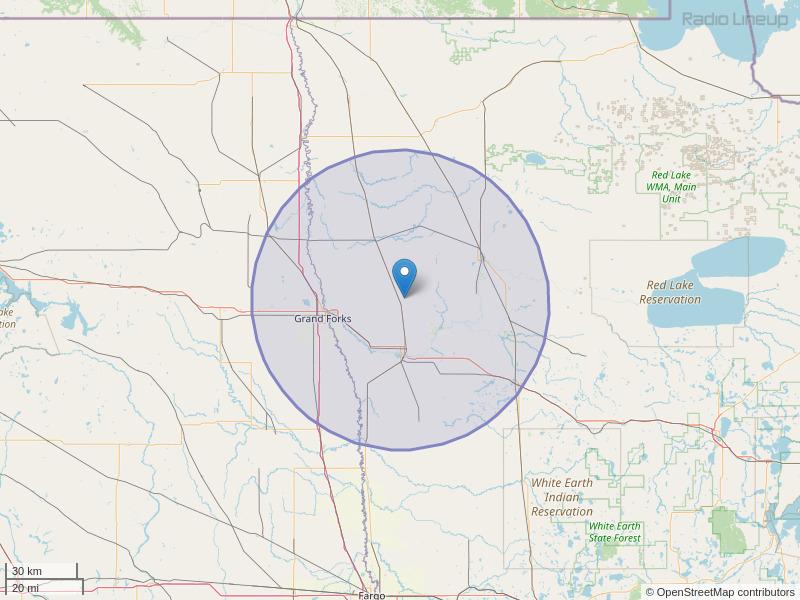 KSNR-FM Coverage Map