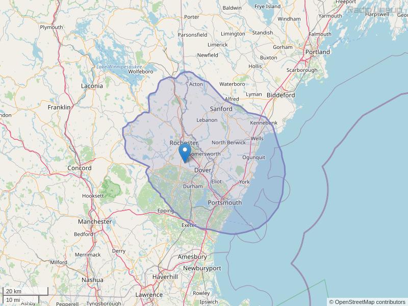 WSEW-FM Coverage Map