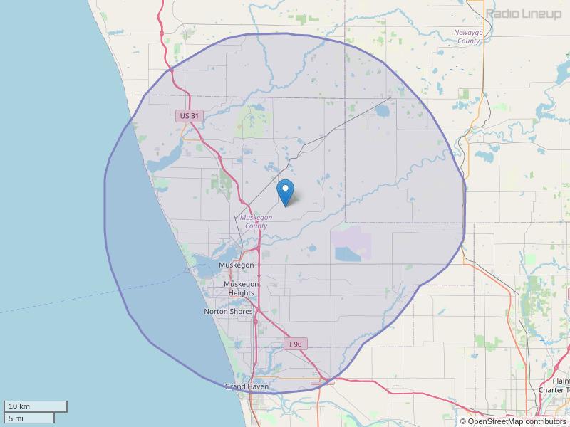 WVIB-FM Coverage Map