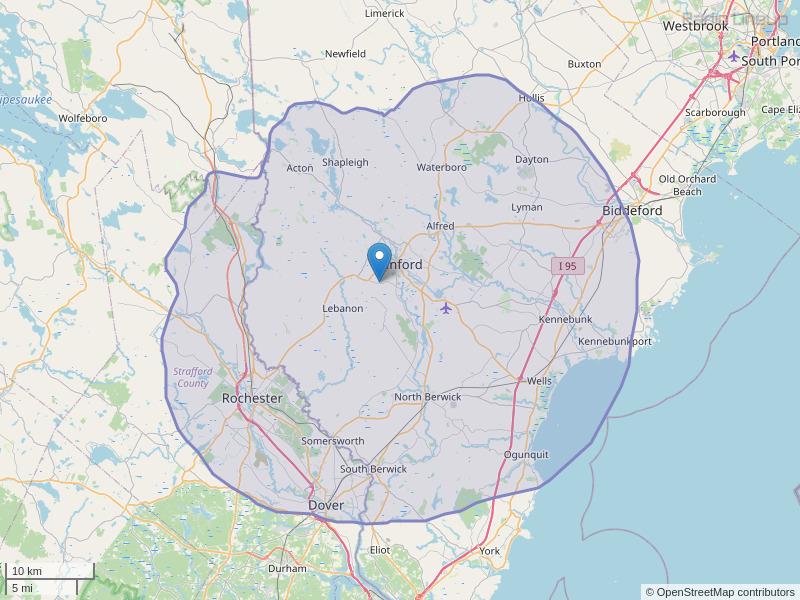 WXEX-FM Coverage Map