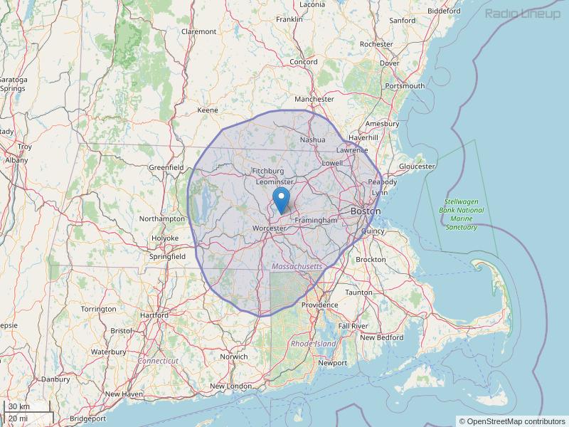 WKVB-FM Coverage Map
