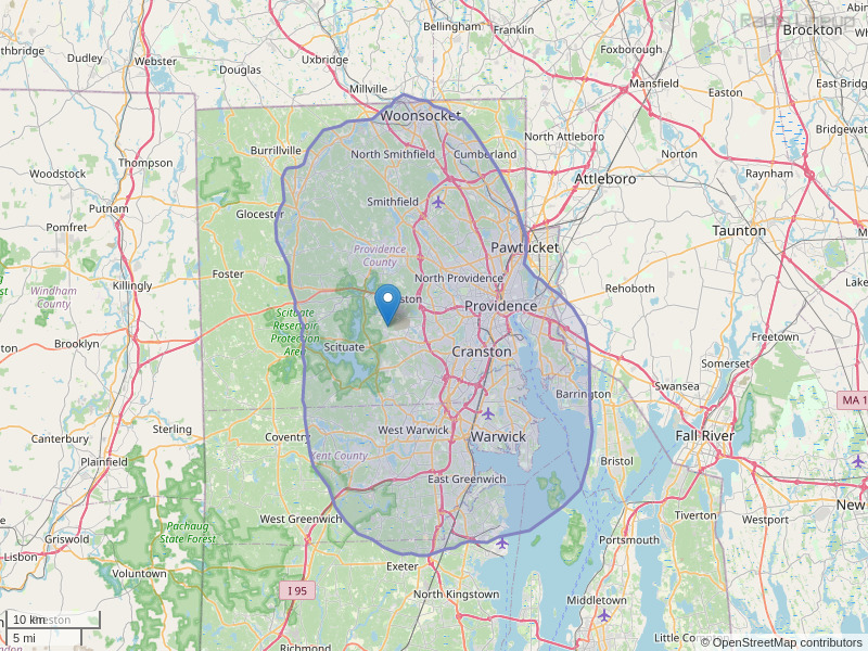 WJMF-FM Coverage Map