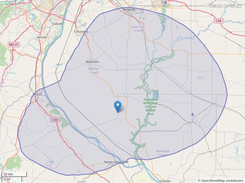 KTBJ-FM Coverage Map
