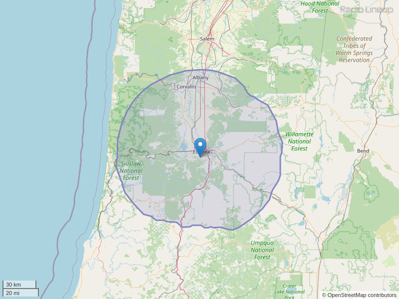 KEHK-FM Coverage Map
