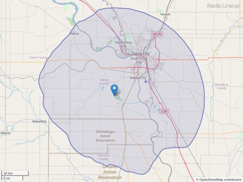 KAYA-FM Coverage Map