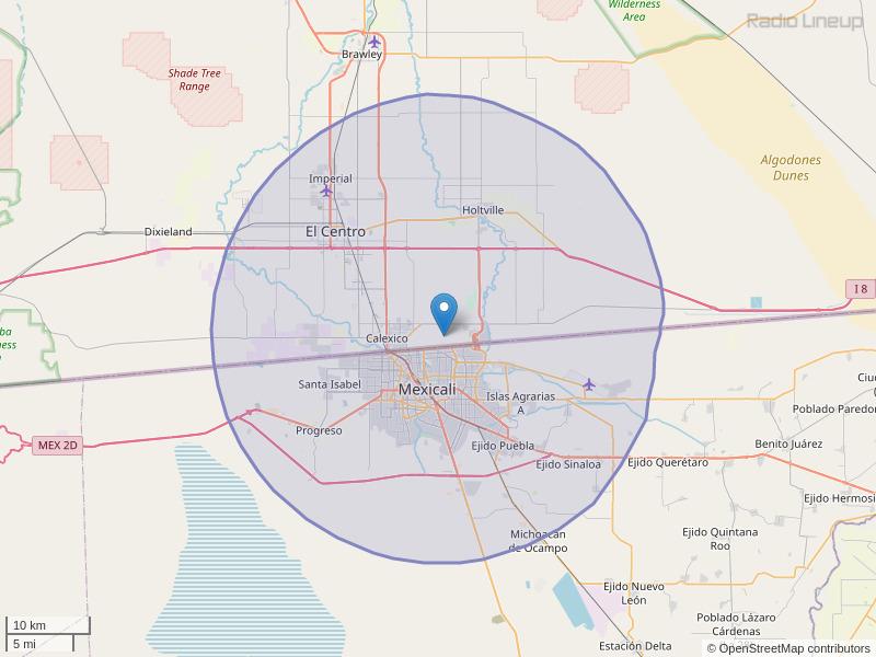 KQVO-FM Coverage Map