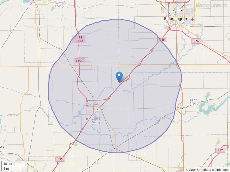 WLCN-FM Coverage Map