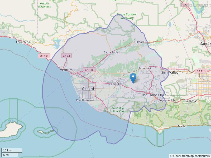 KCLU-FM Coverage Map
