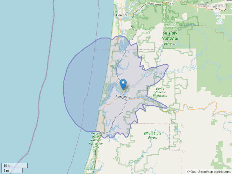 KLFR-FM Coverage Map
