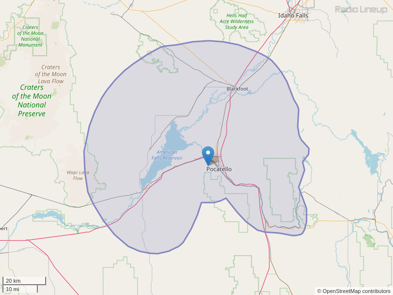KLLP-FM Coverage Map