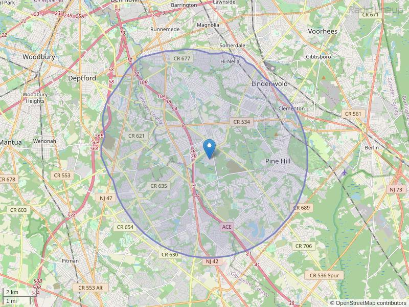 WDBK-FM Coverage Map