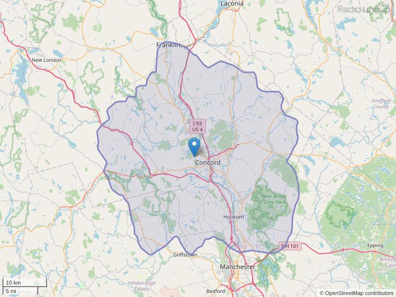 WAKC-FM Coverage Map