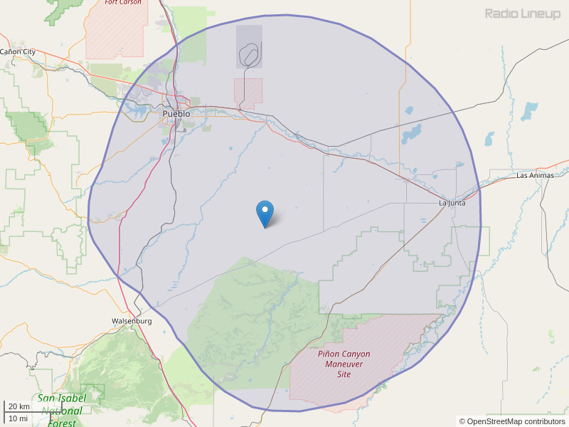 KPHT-FM Coverage Map