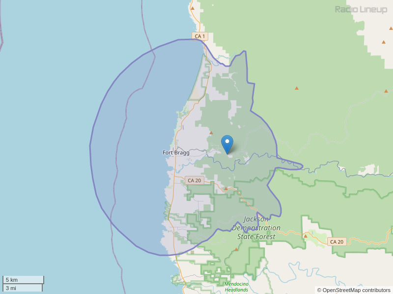 KJCU-FM Coverage Map
