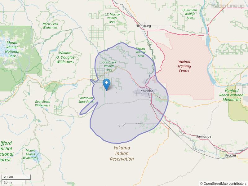 KMGW-FM Coverage Map