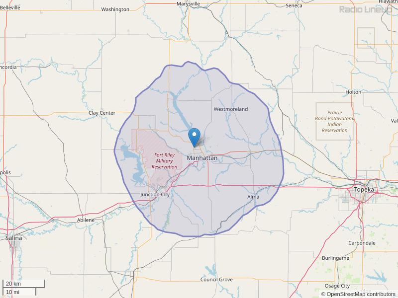 KACZ-FM Coverage Map