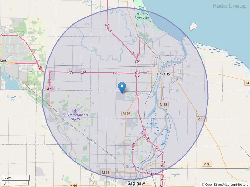 WTRK-FM Coverage Map