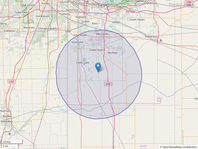 WLPR-FM Coverage Map