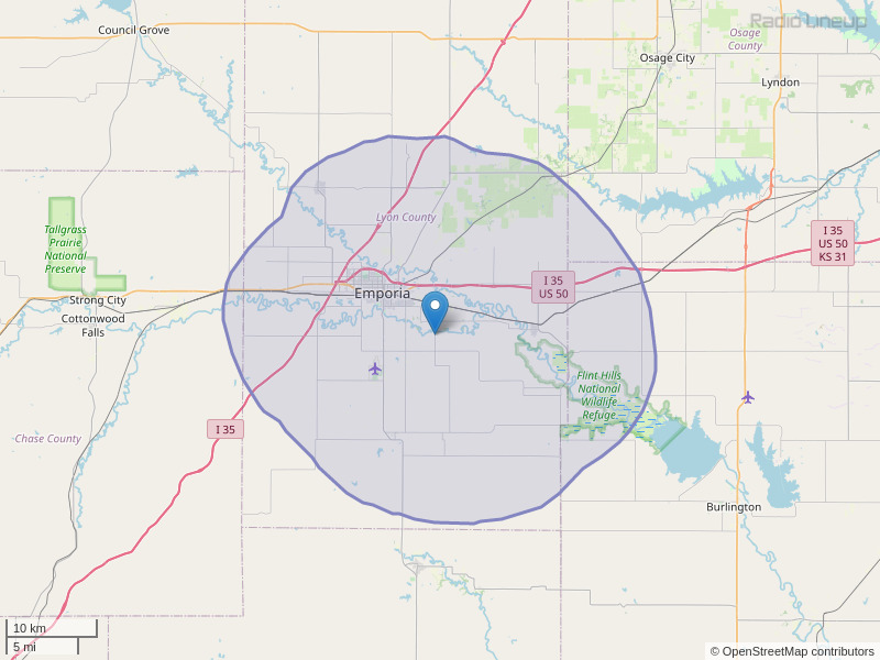 KANH-FM Coverage Map
