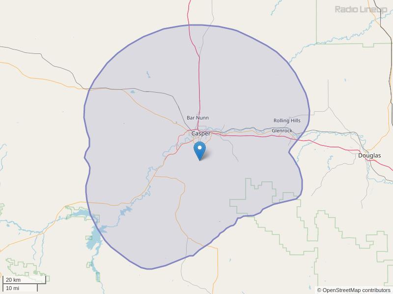 KLWC-FM Coverage Map