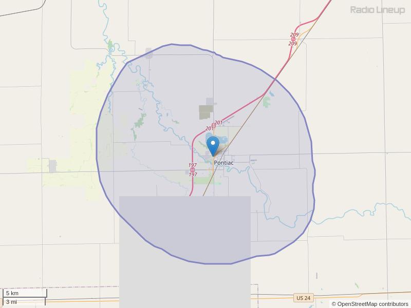WPJC-FM Coverage Map