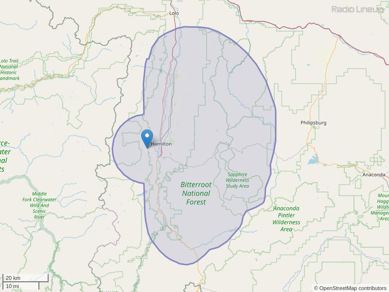 KMZO-FM Coverage Map