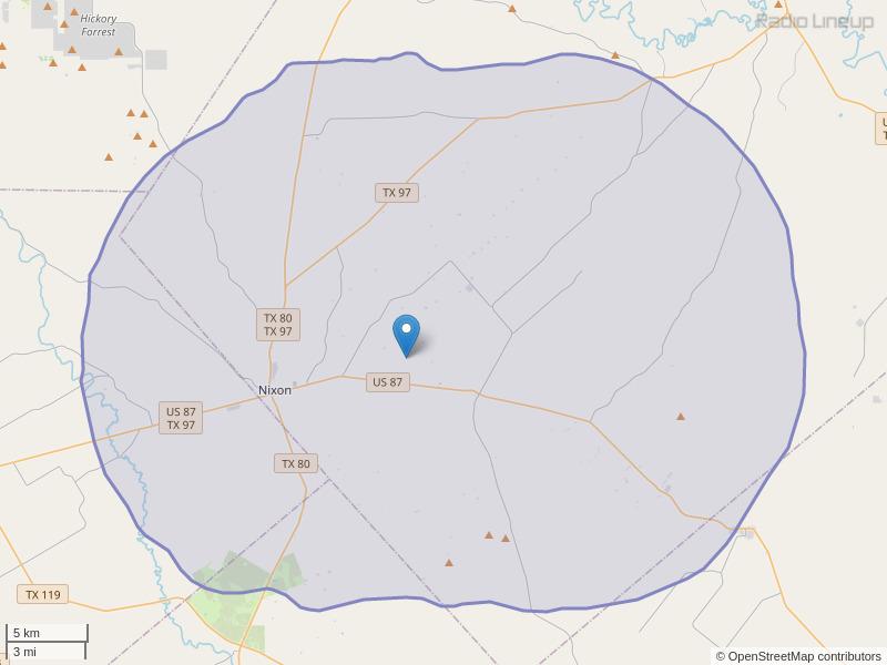 KSXT-FM Coverage Map
