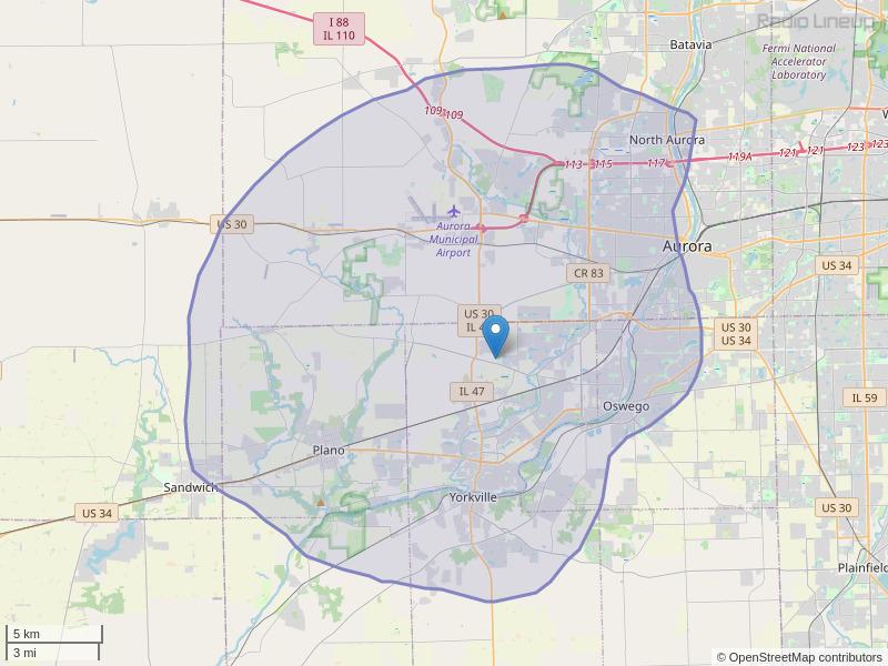 WSRI-FM Coverage Map