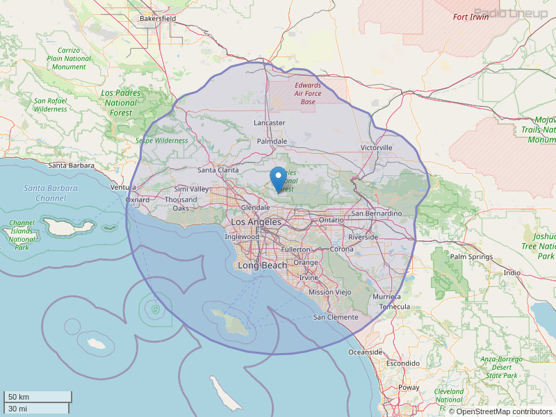 KCBS-FM Coverage Map